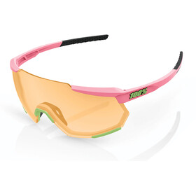 100% Racetrap Glasses matte washed out neon pink/persimmon